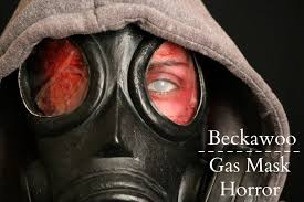 halloween gas mask horror burn victim makeup tutorial youtube