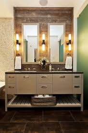 Restoration Hardware Bath Vanities by Contemporary Bathroom Vanity Design Featuring Twin Square Sink And