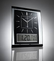 digital wall clock with date and day
