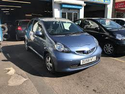 toyota aygo 1 litre petrol manual 3 door hatchback blue 2008