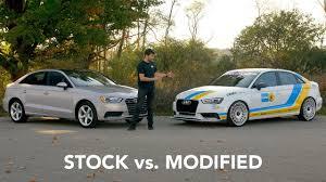 audi modified stock vs modified audi a3 youtube