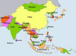 map asie carte de l asie