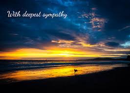 dog condolences with deepest sympathy sincere condolences sunset dog