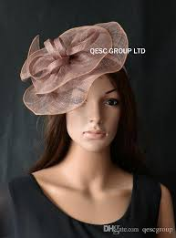 hair accessories melbourne taupe pink sinamay fascinator hat hair accessory for melbourne cup