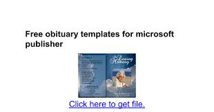 sle funeral programs free obituary templates for microsoft publisher docs