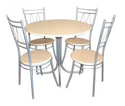 4 Chairs Furniture Design Ideas Chrome Metal Armless Chairs Using Wooden Seat Combined