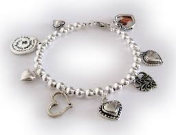 hearts and charm bracelet charms bracelet with lots of