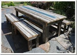 rustic outdoor picnic tables fishtail cottage rustic outdoor table