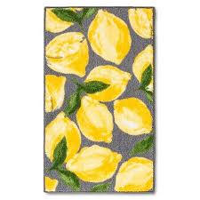 Yum Kitchen Rug Threshold Lemons Kitchen Rug Gray Yellow Kitchen Pinterest