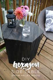 Pallet Furniture Side Table Diy Hexagon Side Table Pallet Challenge Lemon Thistle