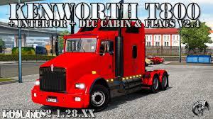 kenworth t800 kenworth t800 v 2 4 final dlc for v 1 28 xx mod for ets 2