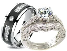 cheap his and hers wedding bands wedding rings blushingblonde
