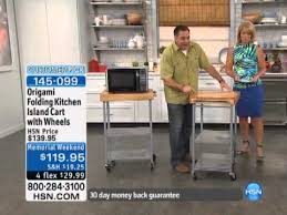 Island Cart Kitchen Origami Folding Kitchen Island Cart Youtube