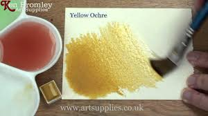 winsor u0026 newton cotman paint yellow ochre 744 youtube