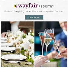 wedding registry all in one check it out wayfair wedding registry sweepstakes