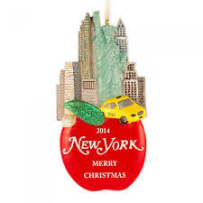 new york glitter personalized ornament