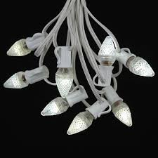 warm white led c7 outdoor string light set on white wire novelty