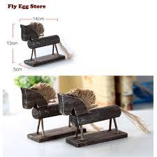 banc canap 1 pcs miniaturas d origine simulation en bois cheval vintage banc