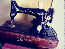 another vintage sewing machine ode to inspiration