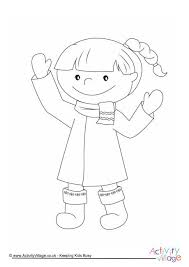 winter colouring pages kids