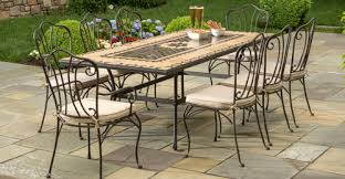 Wrought Iron Patio Chairs 5 Piece Wrought Iron Patio Set Laura Williams
