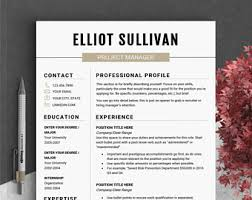 one page resume template resume template instant modern resume cv template