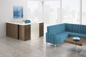 national office furniture waveworks reception casegoods with