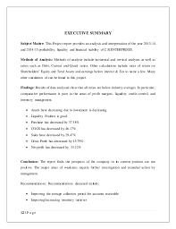 liquidity report template project report on financial statement analysis and interpretation of