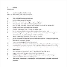 server job description resume template for food server http