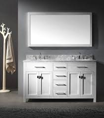 double sink bathroom vanity ideas grey stone concrete wall