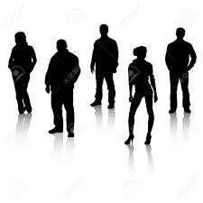 all silhouettes organized in layers for usability royalty free