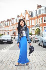 comfort traveling maxi skirt denim jacket u0026 london faves