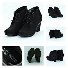 womens boots pavers pavers wedge black suede ankle boots lace up size 6 womens