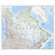 Canada Maps by Canada Classic Wall Map Laminated National Geographic Store