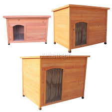 Pet Hutch Foxhunter Dog Kennel Wooden Pet House Hutch Puppy Wood Cage