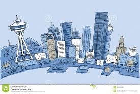Seattle Usa Map by Cartoon Seattlecartoon Seattle Stock Illustration Image 41560895