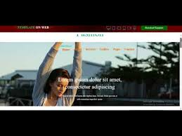 fashion designing website template free download youtube