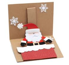 free card project pop up santa