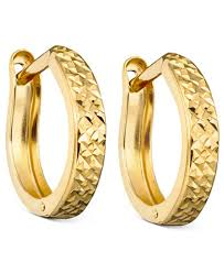 gold earrings 10k gold hoop earrings earrings jewelry watches macy s