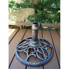 Patio Umbrella Stand by Amazon Com Oakland Living Round Umbrella Stand Antique Bronze