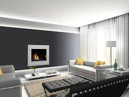 Contemporary Gray Living Room Furniture Fashionable Modern Decorative Fireplace Screen Insert On Dark Gray