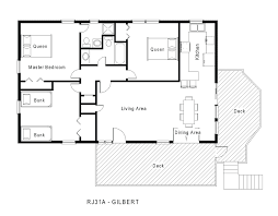2 Bedroom Cabin Floor Plans by 1 Story 2 Bedroom House Plans I Think This May Be The One1 Cottage