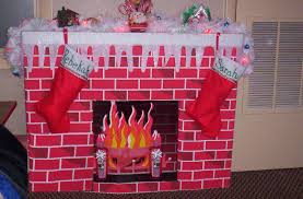 how to make a fireplace out of cardboard home decorating