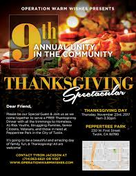 save the date 9th annual operation warm wishes thanksgiving