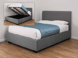 brilliant gray fabric ottoman bed kaydian lanchester 4ft6 double