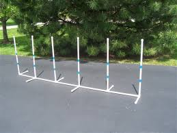 weave poles 6 pole fixed base with staggered set
