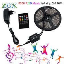 music led strip lights rgb music sync led strip light smd 5050 5m 10m 60led m waterproof
