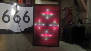vintage realistic color organ sound sensitive audio modulated