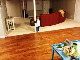 Tile On Concrete Basement Floor by Basement Floor Options Over Concrete Basements Ideas
