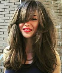 long layered haircuts over 40 40 side swept bangs to sweep you off your feet long layered